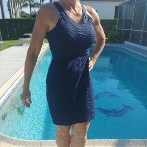Old Navy Sundress Lace Eyelet Navy Blue sz 2 Dress